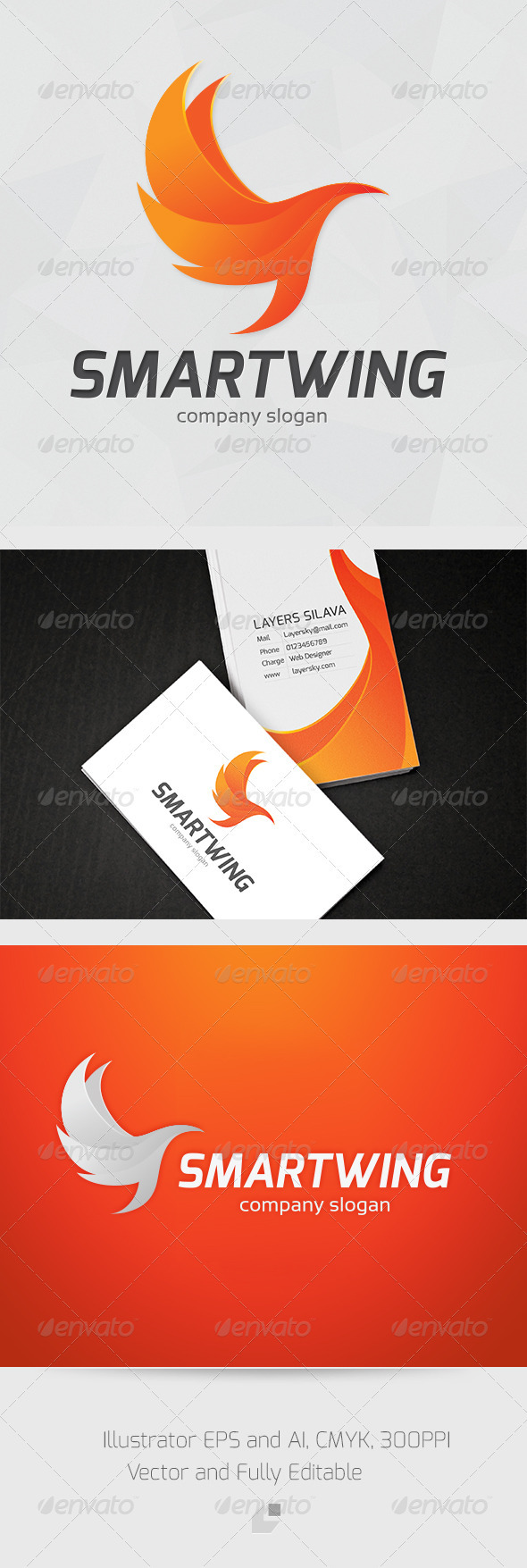GraphicRiver Smart Wing Logo 3361396