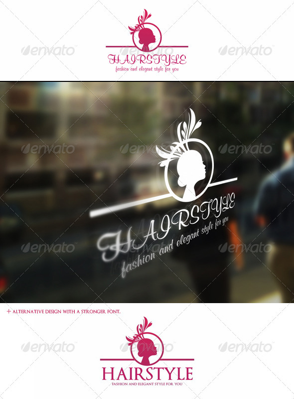 GraphicRiver Hairstyle Logo Template Fashion And Beauty 3343875