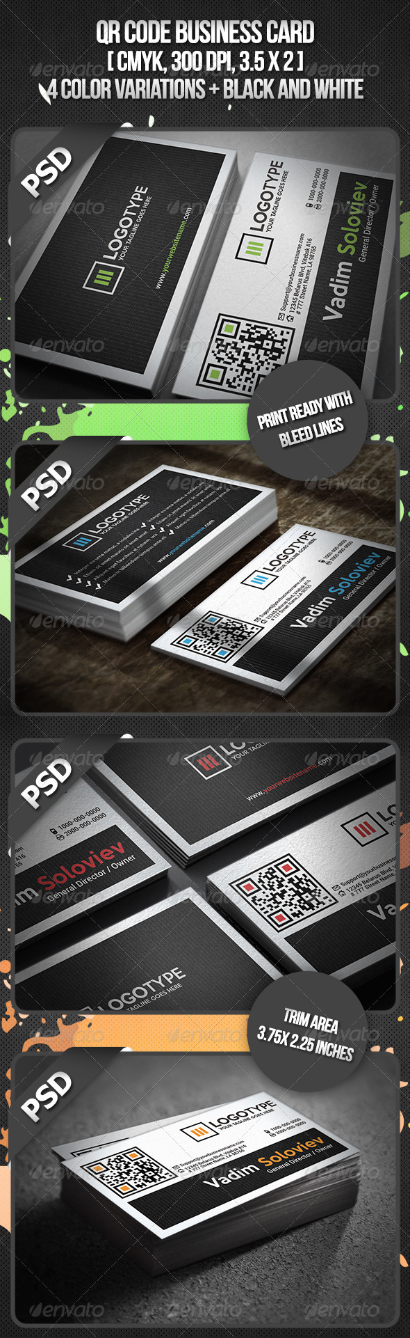 GraphicRiver QR Code Business Card 3361572