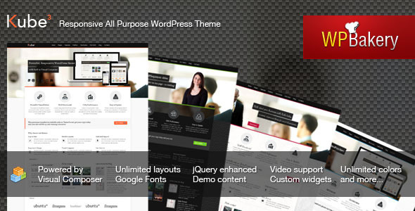 Kube - Responsive All Purpose WordPress Theme - Business Corporate
