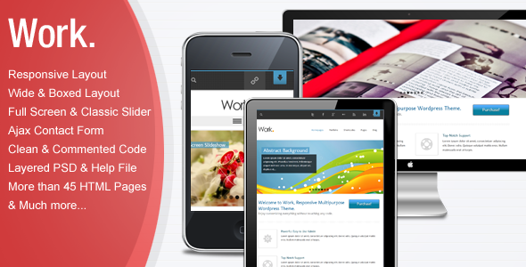 ThemeForest Work Ultimate Responsive HTML Template 3361630