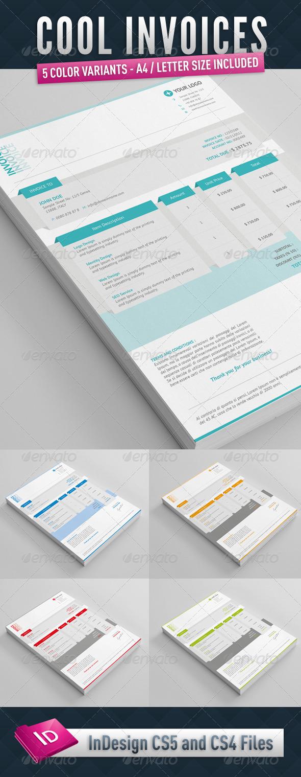 GraphicRiver Cool Invoices 3349990