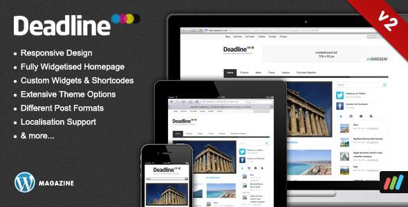 ThemeForest Deadline Responsive Premium WordPress News Magazine Theme 117203