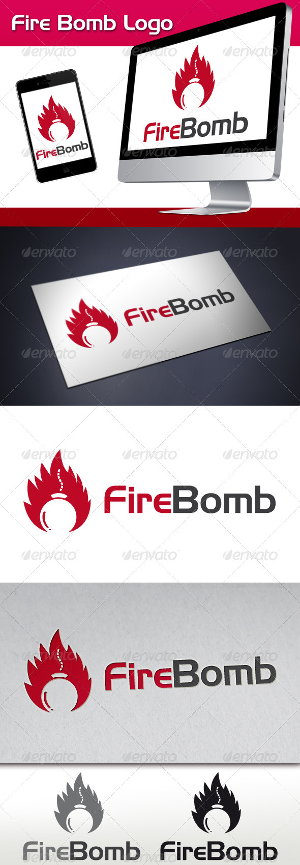 GraphicRiver Fire Bomb Logo 3362062