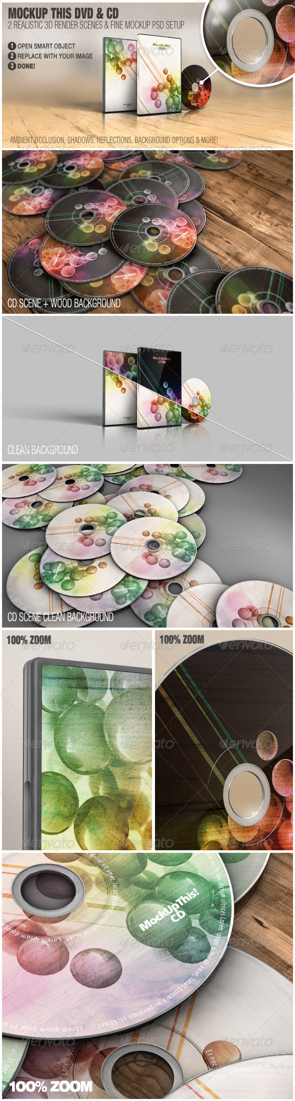 GraphicRiver Mockup This DVD and CD 3362362