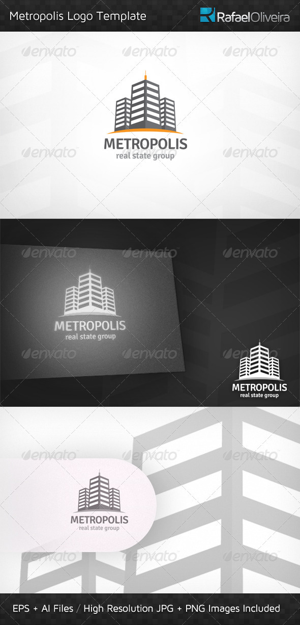 Metropolis Logo Template - Buildings Logo Templates
