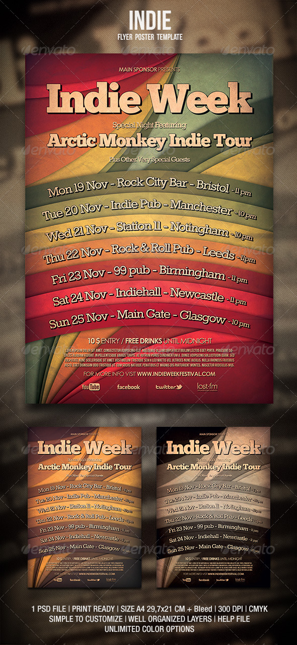 Indie Flyer / Poster 3 - Events Flyers
