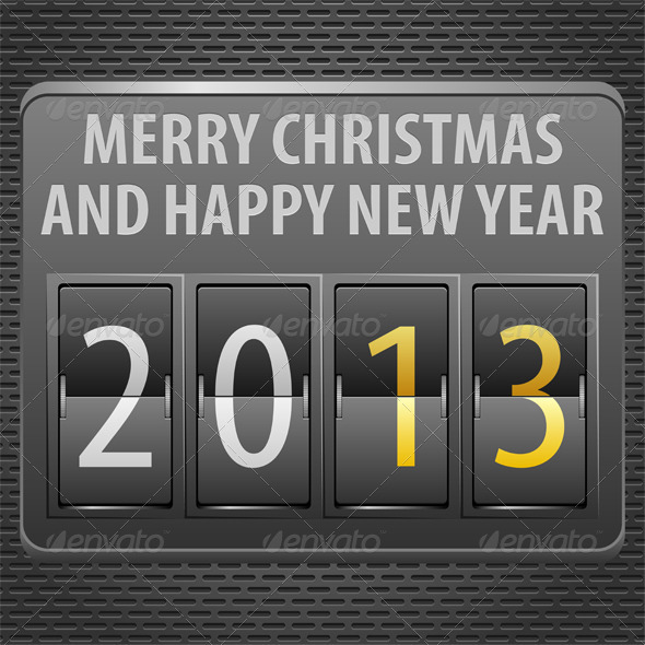 GraphicRiver New Year 2013 on Mechanical Timetable 3362569