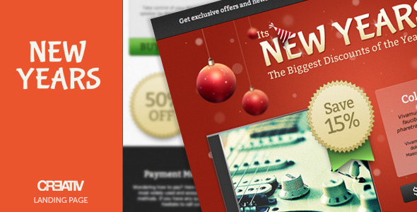 ThemeForest New Year Sale Landing Page 1144484