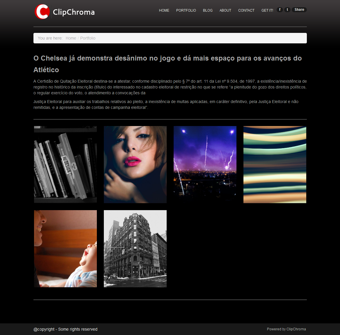 ClipChroma - The Photography Website Solution