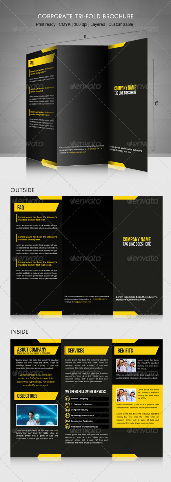 GraphicRiver Corporate Tri-Fold Brochure 3323579