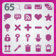 65 AI and PSD Basic Icons - GraphicRiver Item for Sale