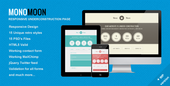 ThemeForest Mono Moon Under Construction Page 2418223