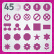 45 AI and PSD Symbols Icons - GraphicRiver Item for Sale