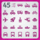 45 AI and PSD Transport Icons - GraphicRiver Item for Sale