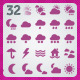 32 AI and PSD Weather Icons - GraphicRiver Item for Sale