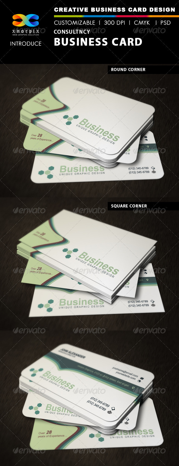 GraphicRiver Consultancy Business Card 3363302