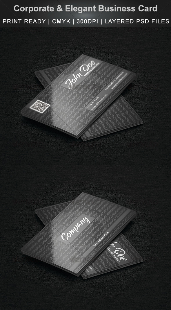 GraphicRiver Corporate & Elegant Business Card 3363307