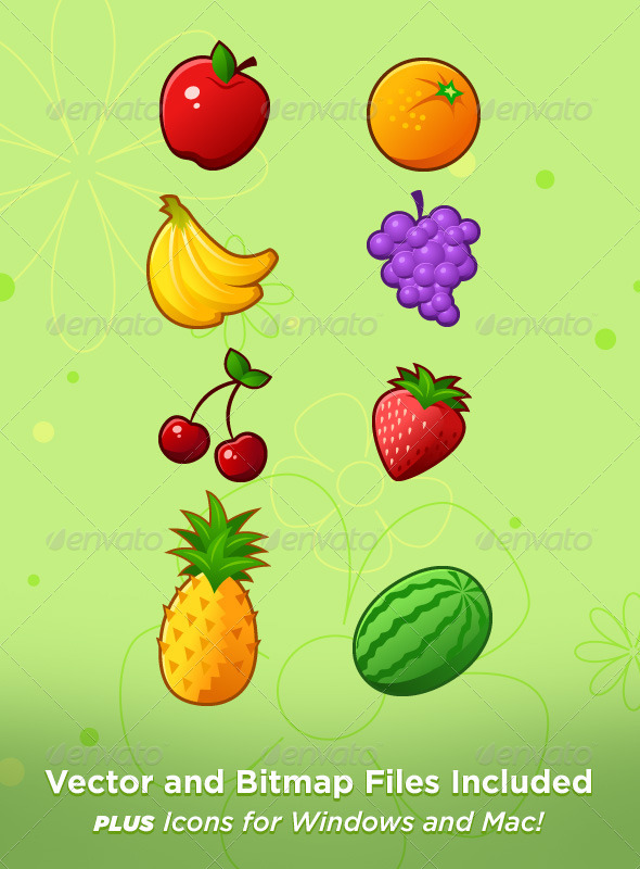 GraphicRiver Fruit Icons 3363484