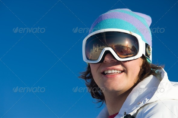 Mountain-skier - Stock Photo - Images