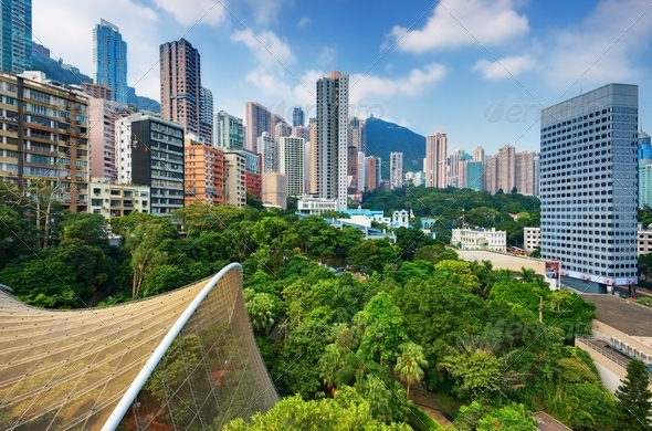 Hong Kong Park - Stock Photo - Images