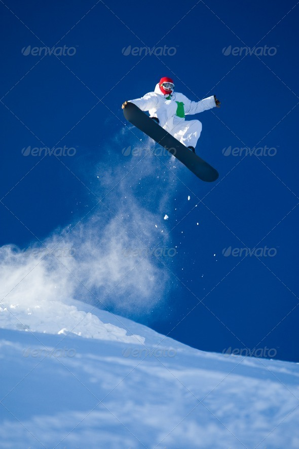 PhotoDune Skillful snowboarder 362298