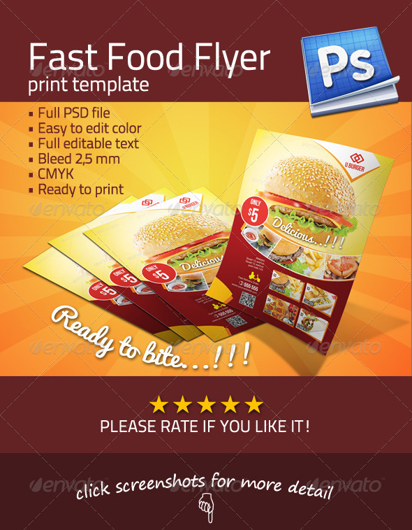 GraphicRiver Fast Food Flyer 3363877