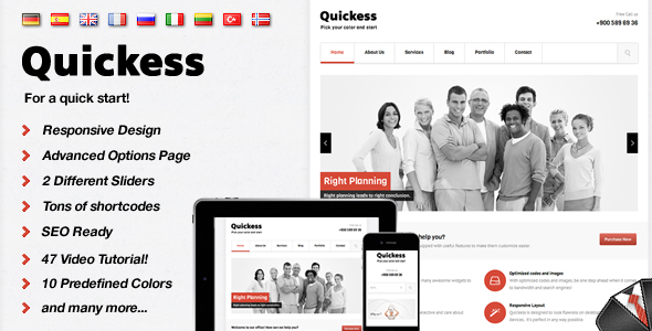 Quickess Responsive Corporate WordPress Theme