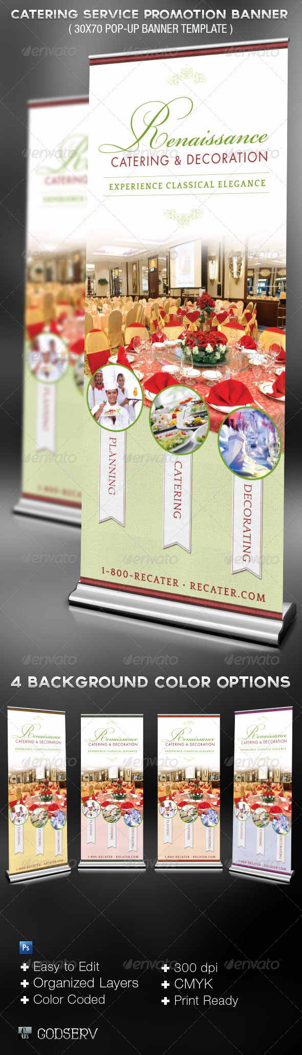 GraphicRiver Catering Service Promotional Banner Template 3364002