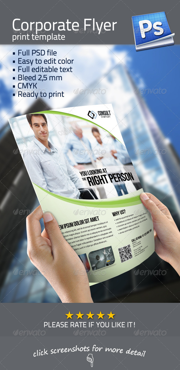 GraphicRiver Corporate Flyer Template 3364143