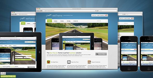ThemeForest 456Theme Premium Responsive Wordpress Theme 3320000