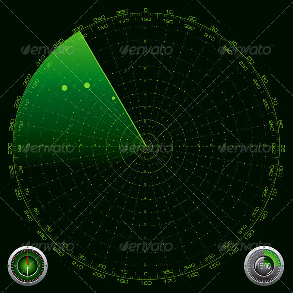 GraphicRiver Detailed Illustration of a Radar Screen 3364230