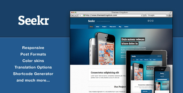 Seekr - Responsive WordPress Theme