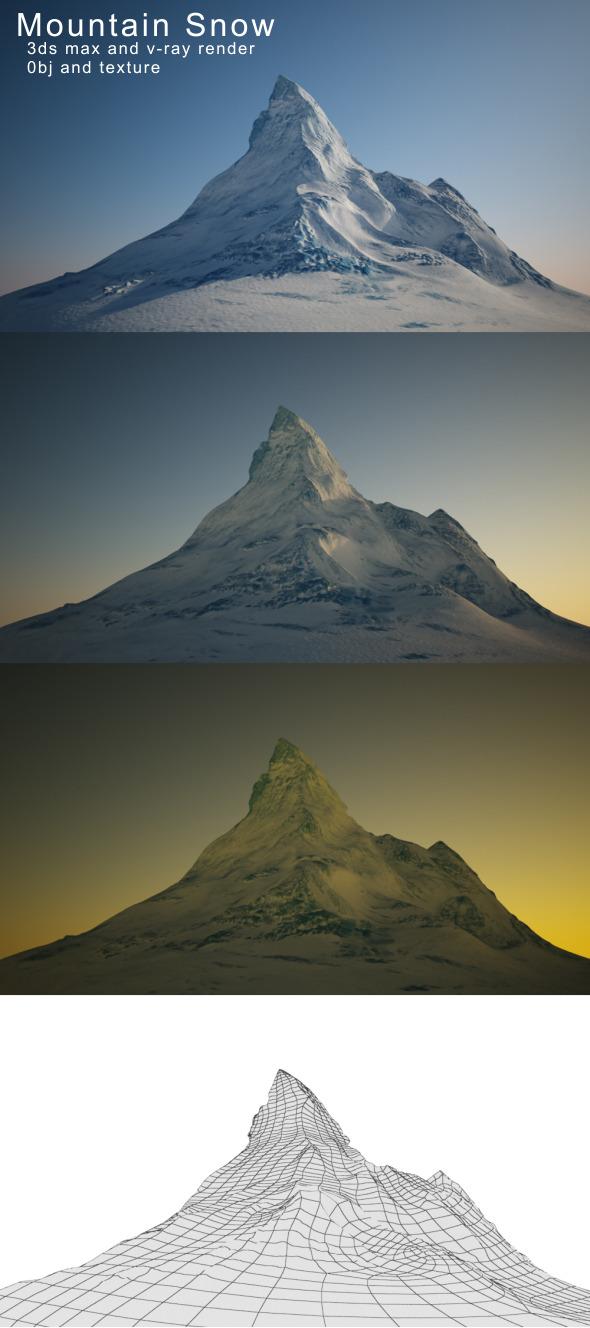 3DOcean Mountain Snow 3364445