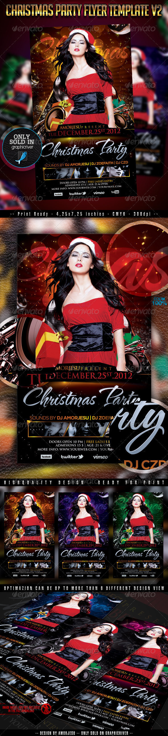 GraphicRiver Christmas Party Flyer Template V2 3364503