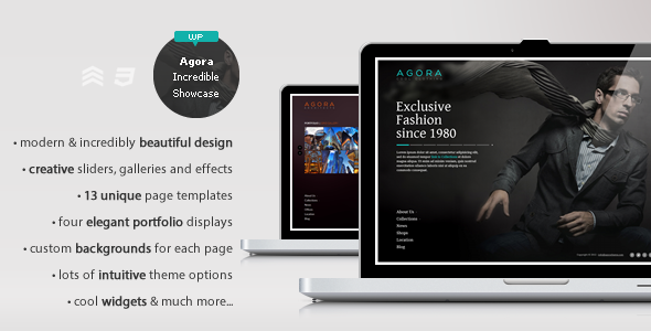 Agora - The Incredible Showcase Theme - Creative WordPress