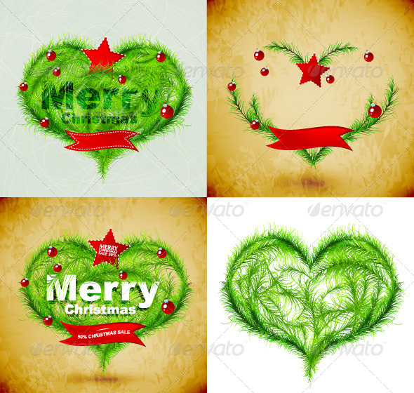 GraphicRiver Vector Grunge Merry Christmas Backgrounds 3364612
