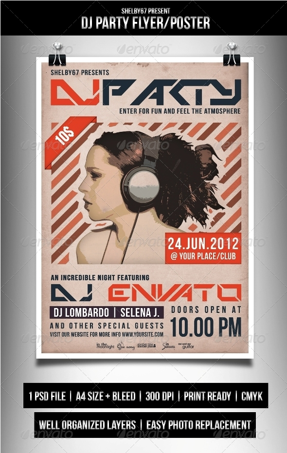 GraphicRiver DJ Party Flyer Poster 3364730