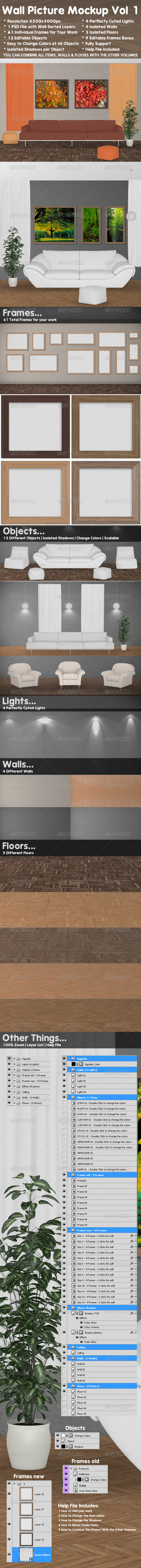 GraphicRiver Wall Picture Mock-Up vol 1 3365393