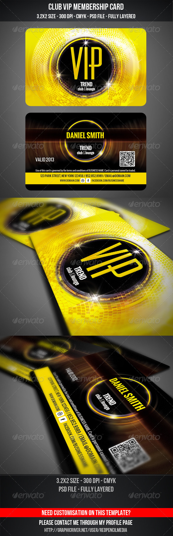 GraphicRiver Club VIP Membership Card 3365398