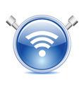 Blue Wi-fi Icon