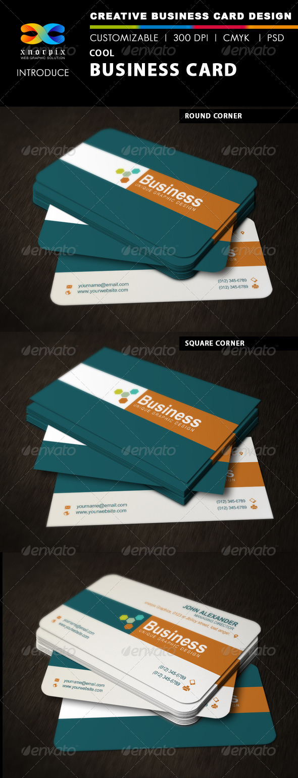 GraphicRiver Cool Business Card 3366225