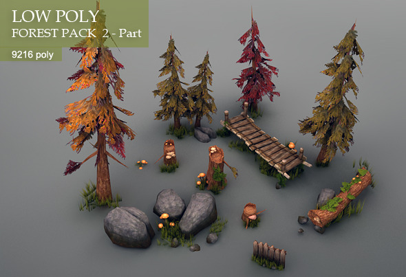 3DOcean Low Poly Forest Pack part 2 3366445