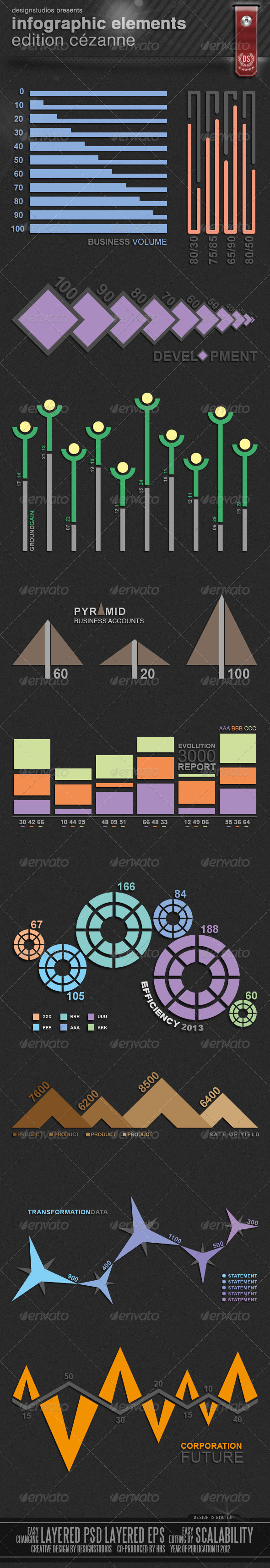 GraphicRiver Infographic Elements Edition Cezanne 3366484