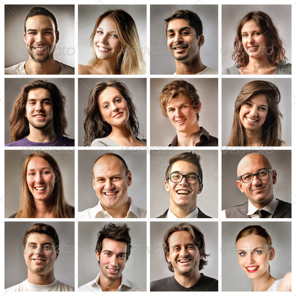 Smiling Group - Stock Photo - Images
