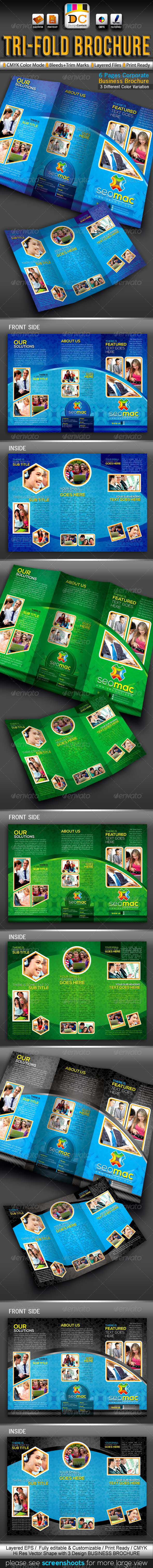 GraphicRiver SeoMac Tri-fold Corporate Business Brochure 3367247