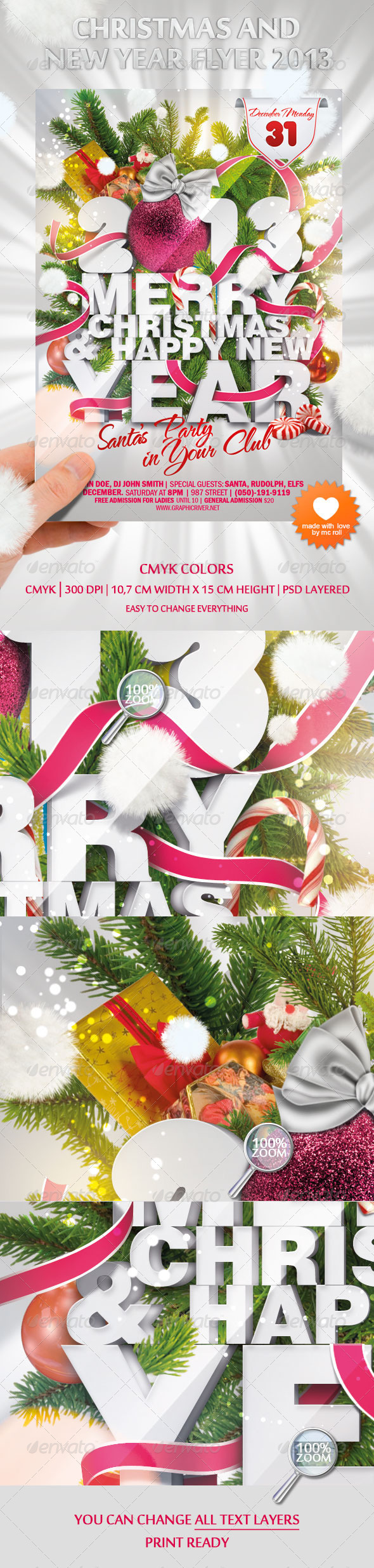 GraphicRiver Christmas and New Year Flyer 2013 979556