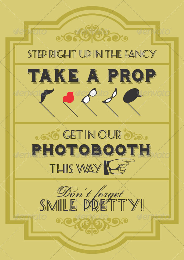 Photo Booth Props Template Signs 13 Sign Template For Photo