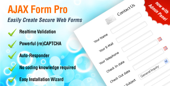 CodeCanyon AJAX Form Pro Create Unlimited Secure Forms 303989