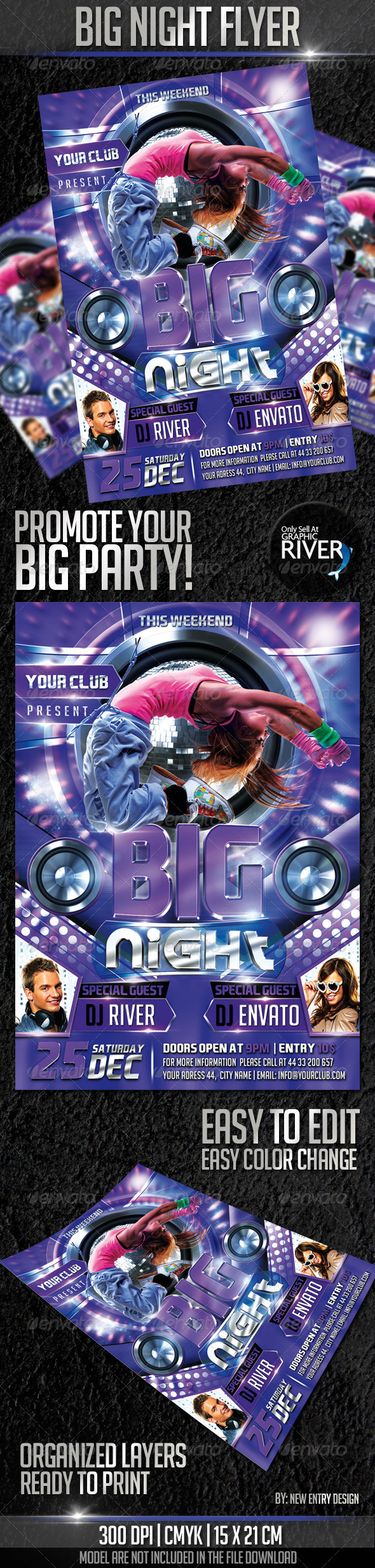 GraphicRiver Big Night Flyer Template 3343512
